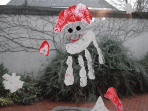 Fingerfarbe Weihnachten.Wichtel Nikolaus Und Co Fensterschmuck Mal Anders