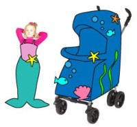 Buggy-Faschingskostüm Meerjungfrau im Wasser - Kinderzeugs.de