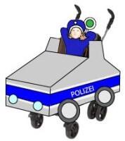 Faschingskostüm mit Buggy: Polizeikostüm - Kinderzeugs.de
